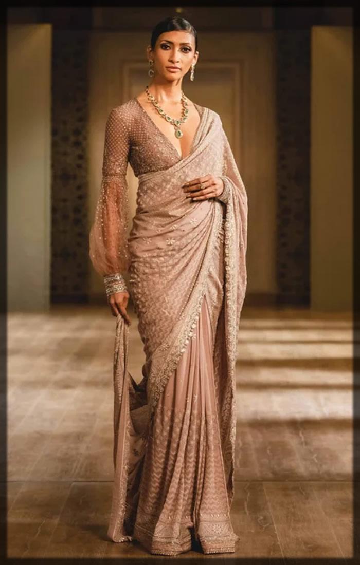 mukaish embellished bridal dress