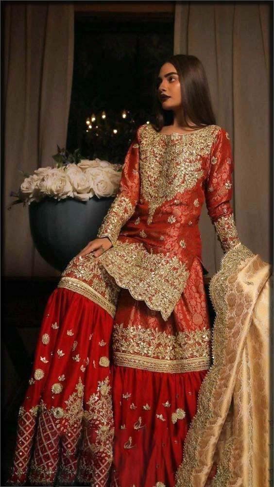 new bridal red gharara