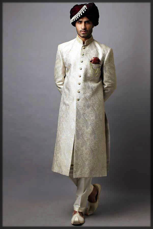 new white sherwani for men