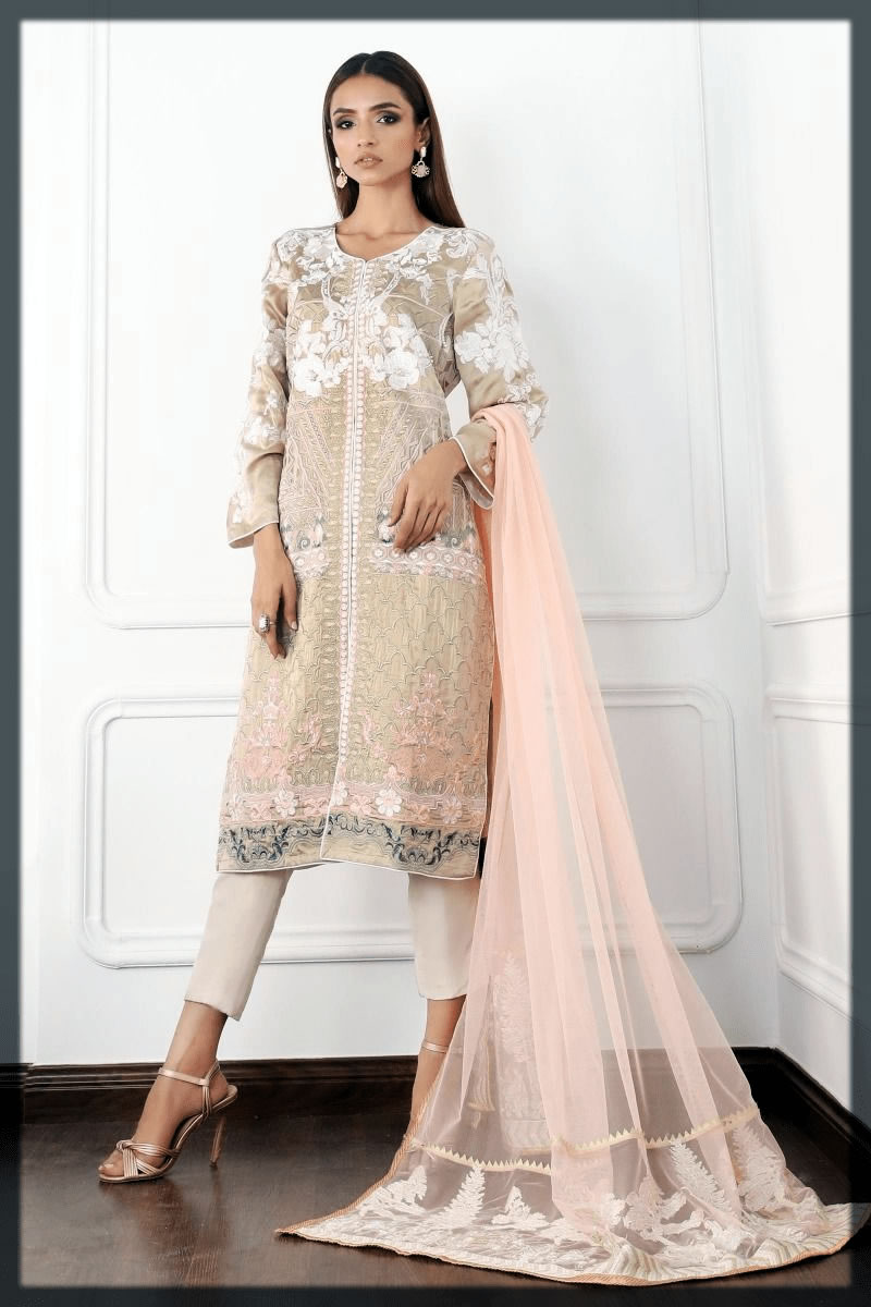 nude colour eid attires for women