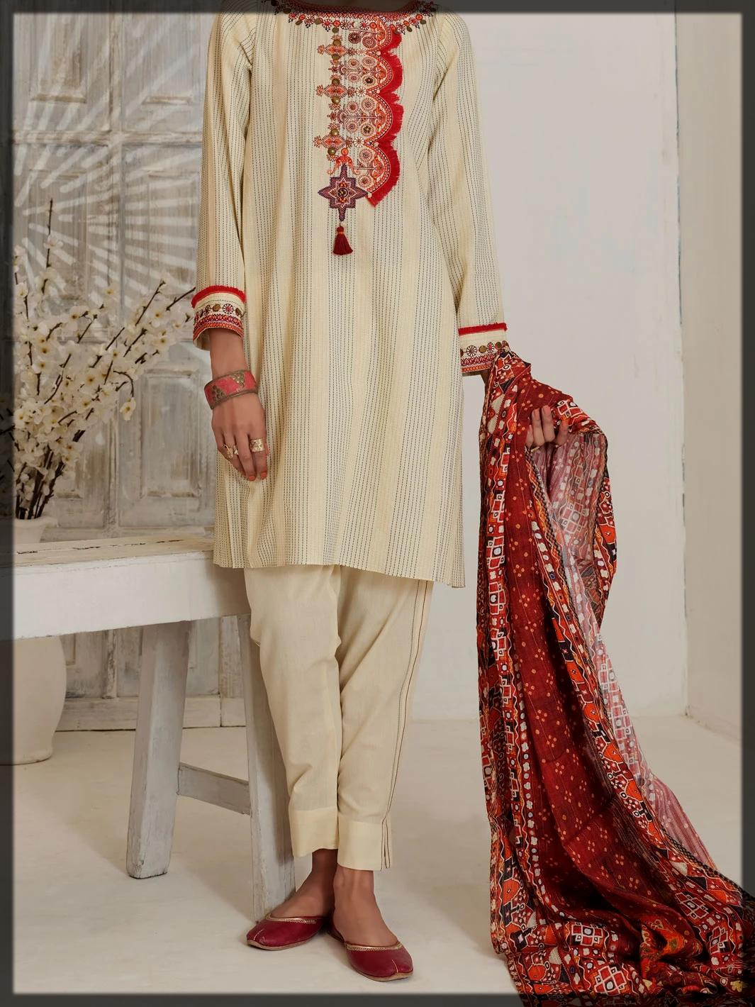 off white eid dress for women