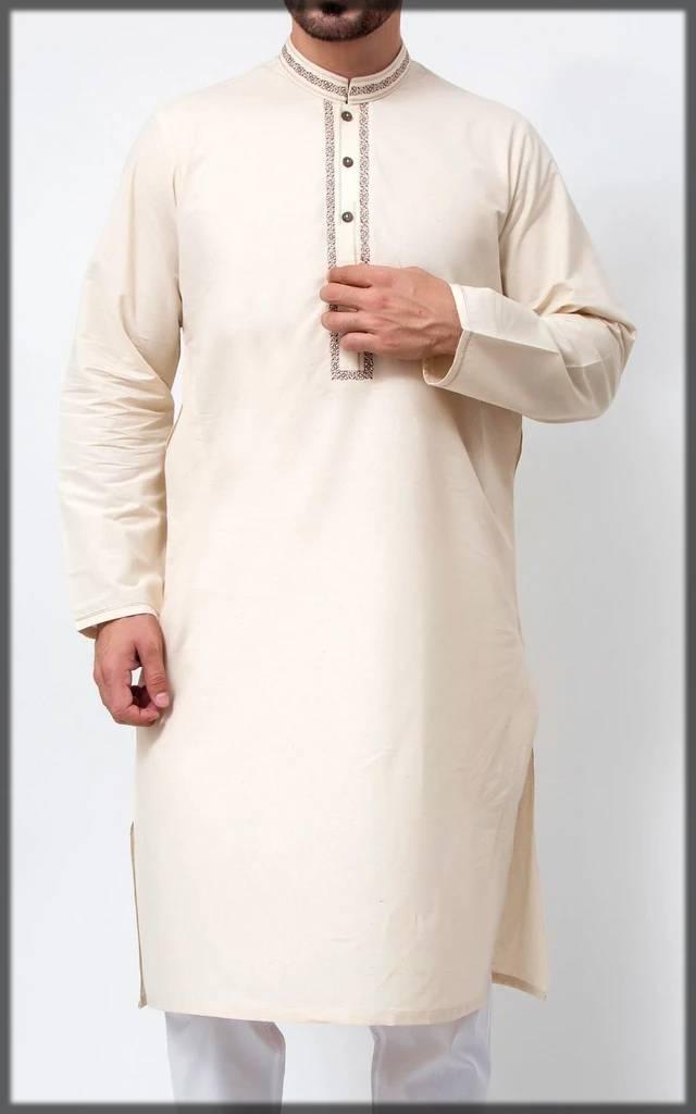 off-white embroidered attire