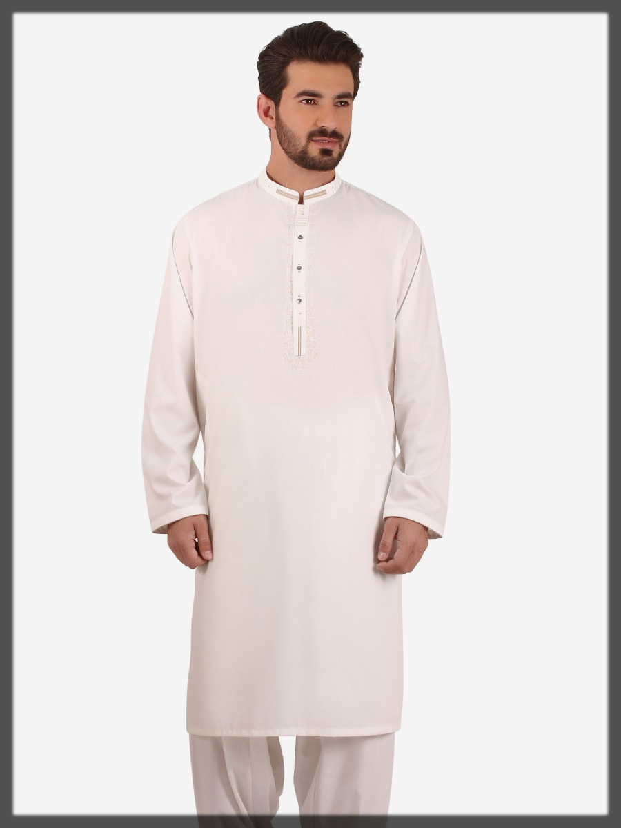 off white shaded summer outfit for men