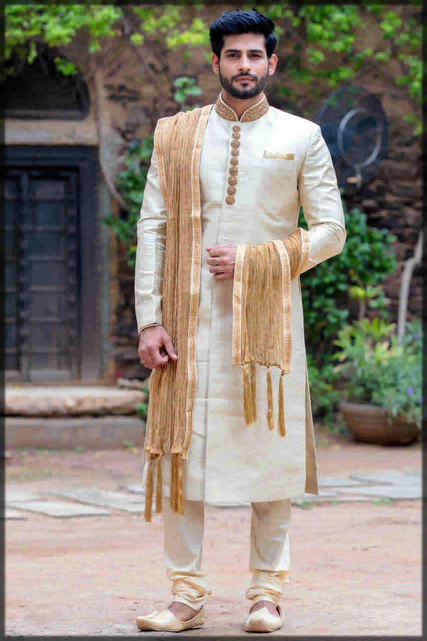 off white wedding dress for men