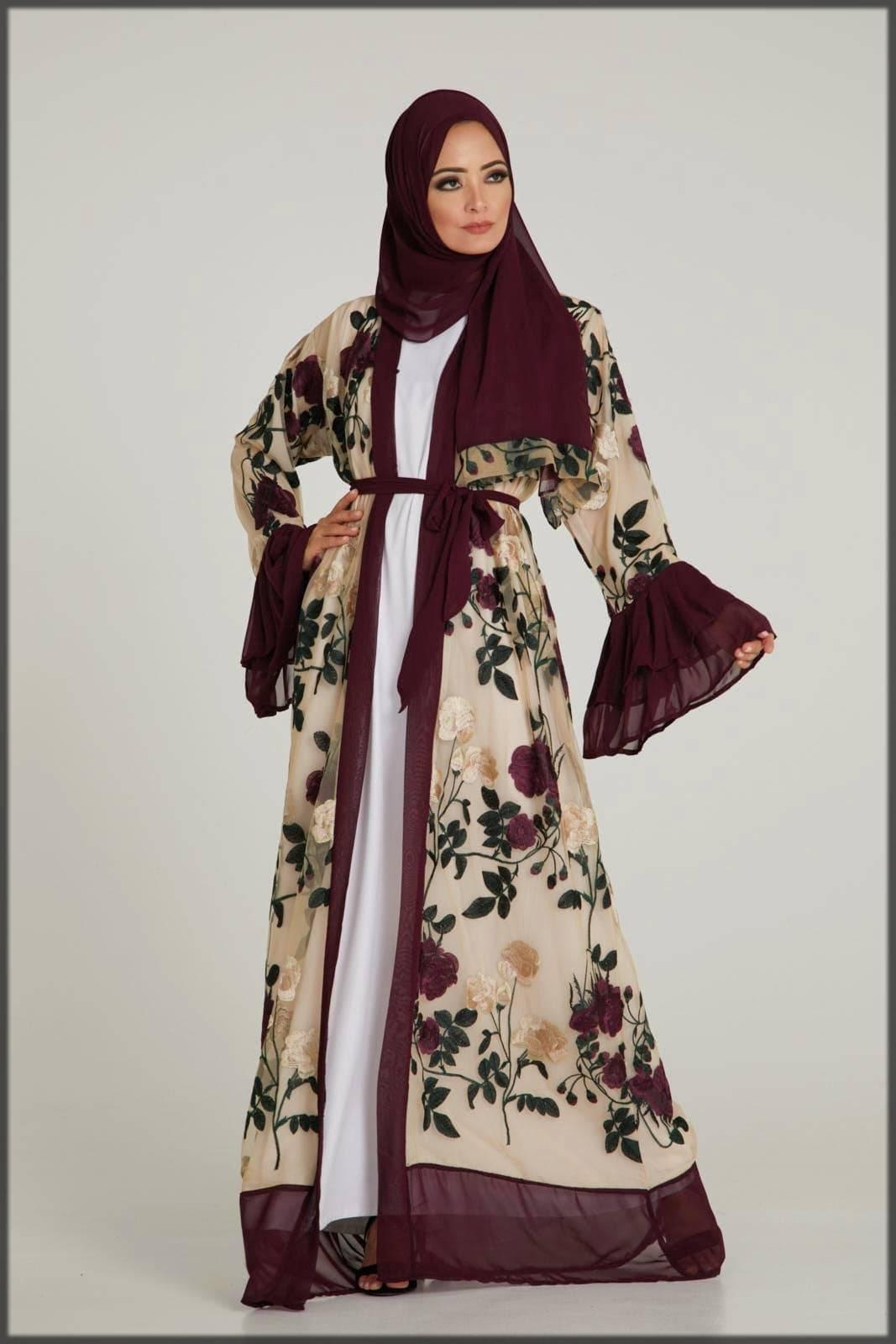 open fancy abaya designs