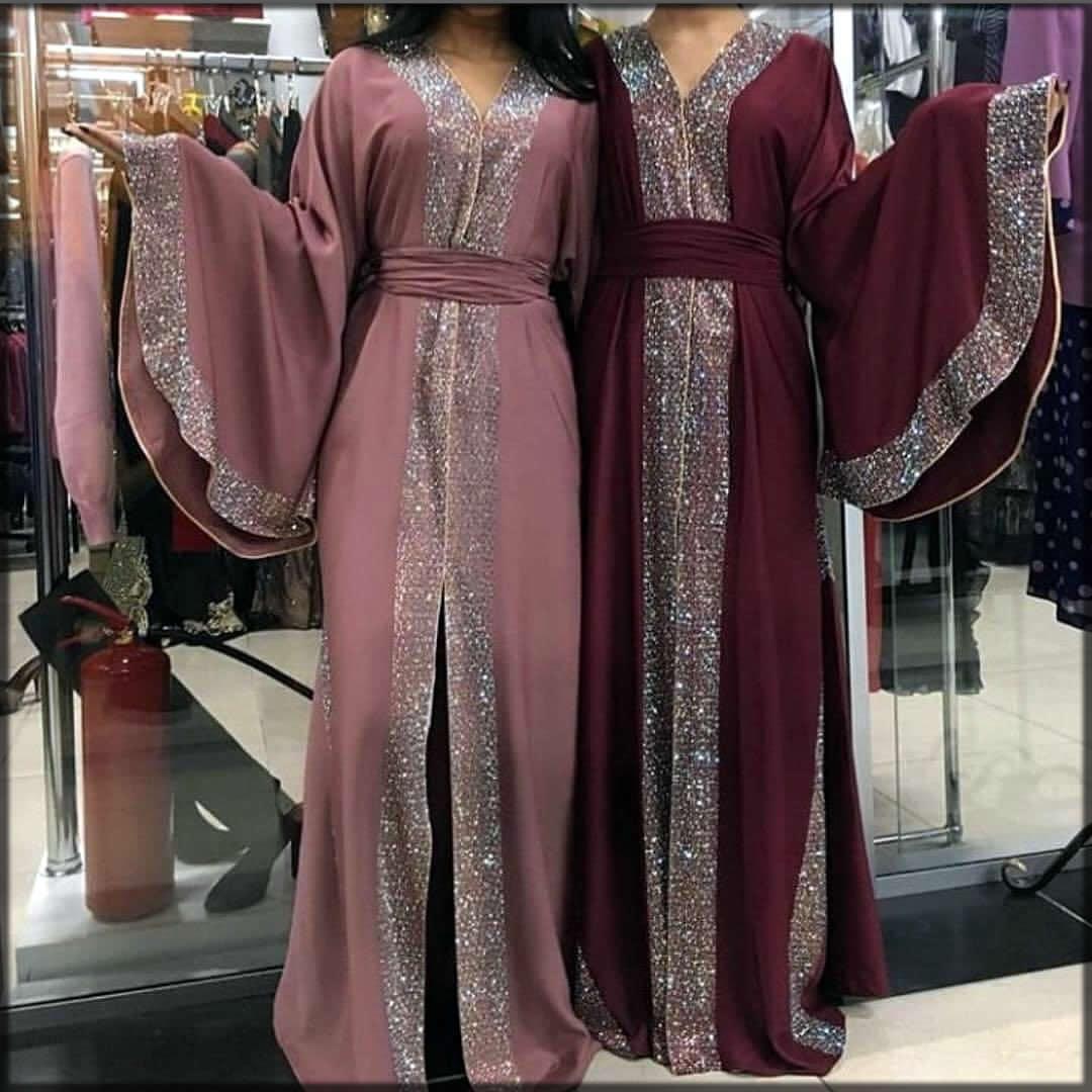 open front wedding abaya dress