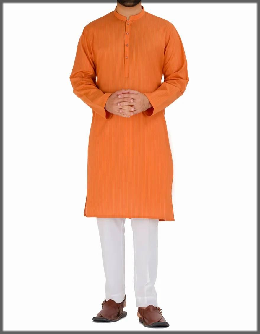 orange attire for men