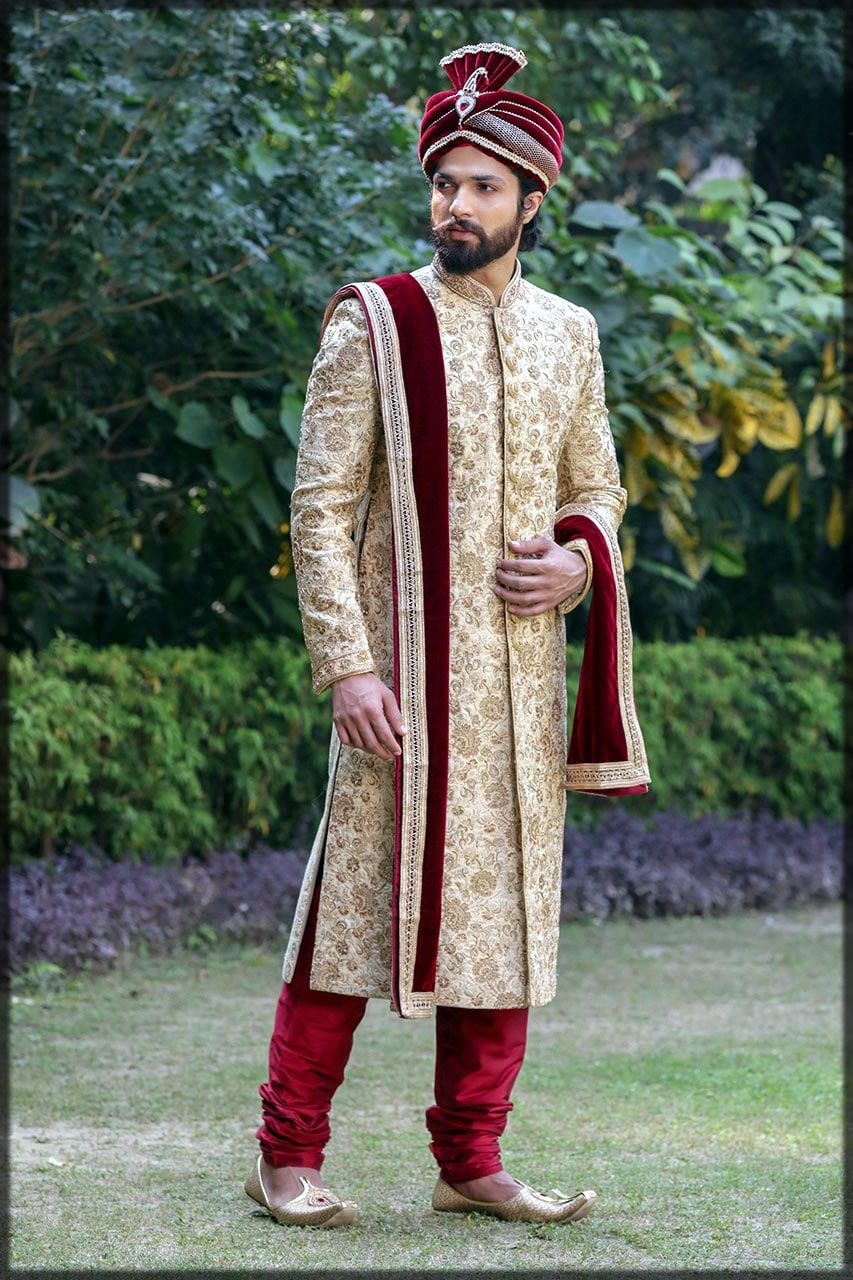 pakistani men wedding dress for barat day