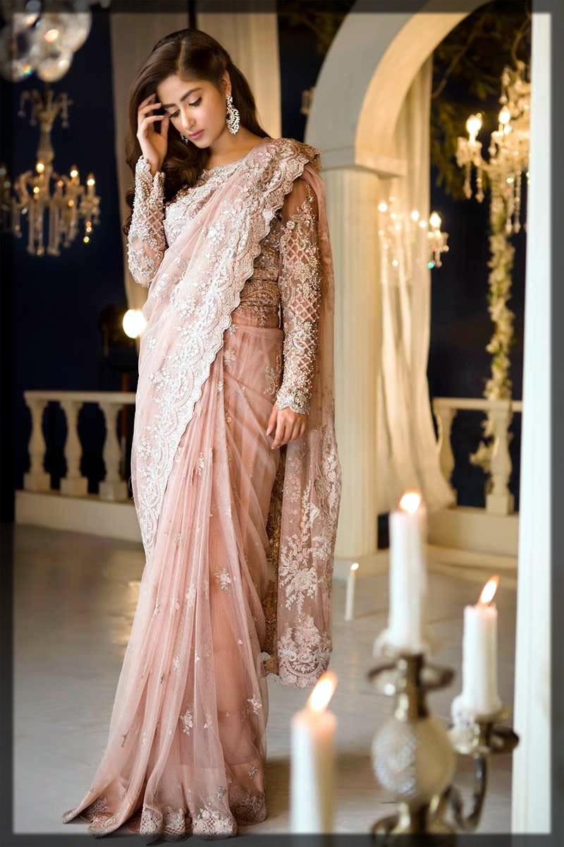 trendy Pakistani Saree Designs