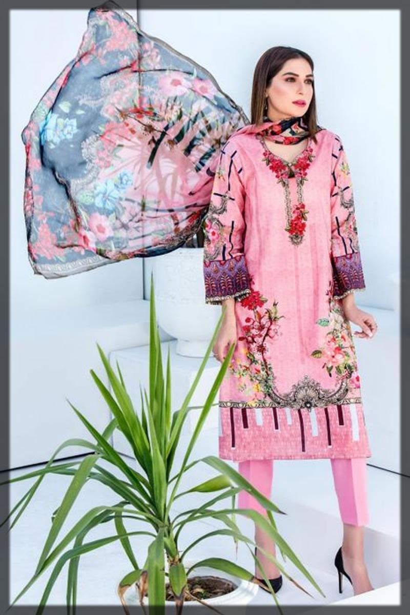 pink jacquard dress