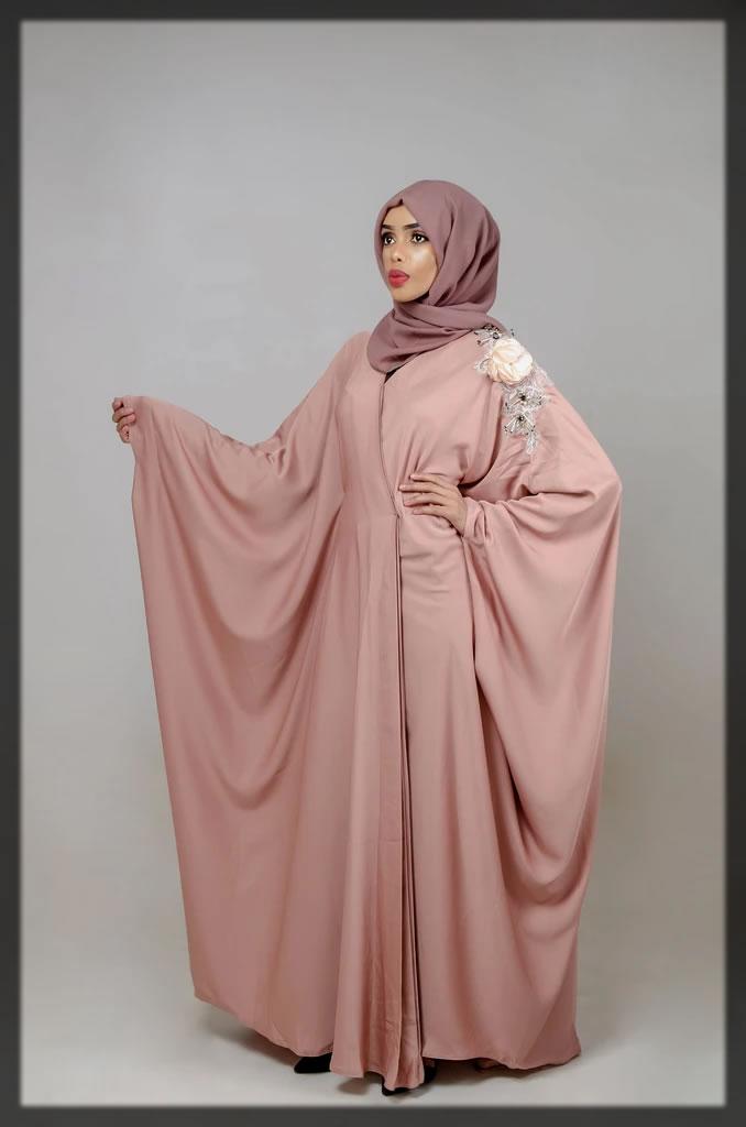 pinkish Designer Dubai style abaya