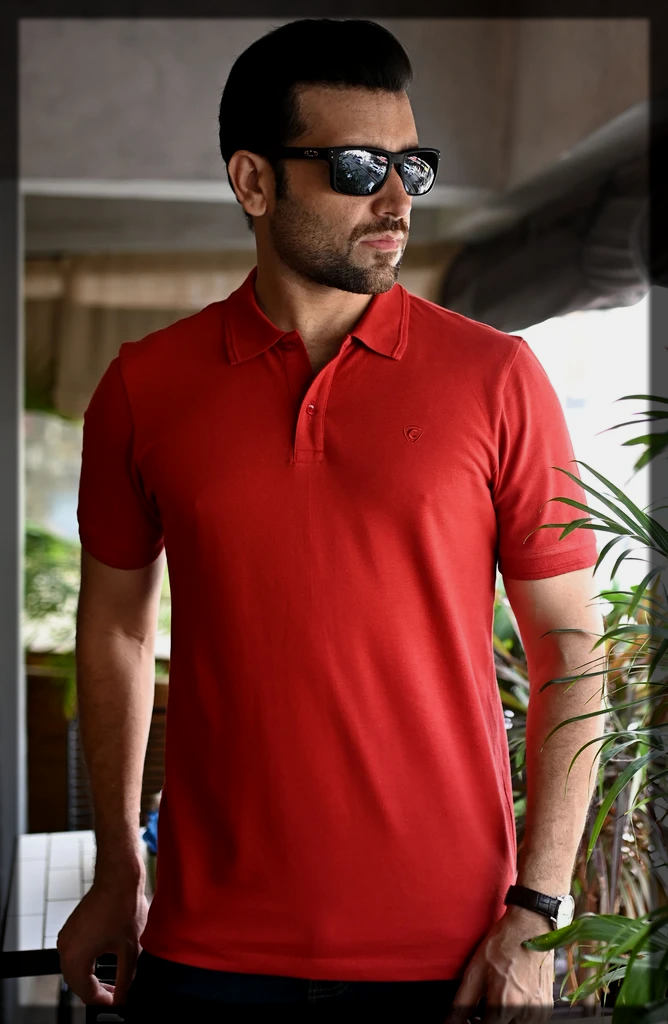 plain red Polo Shirts for Men