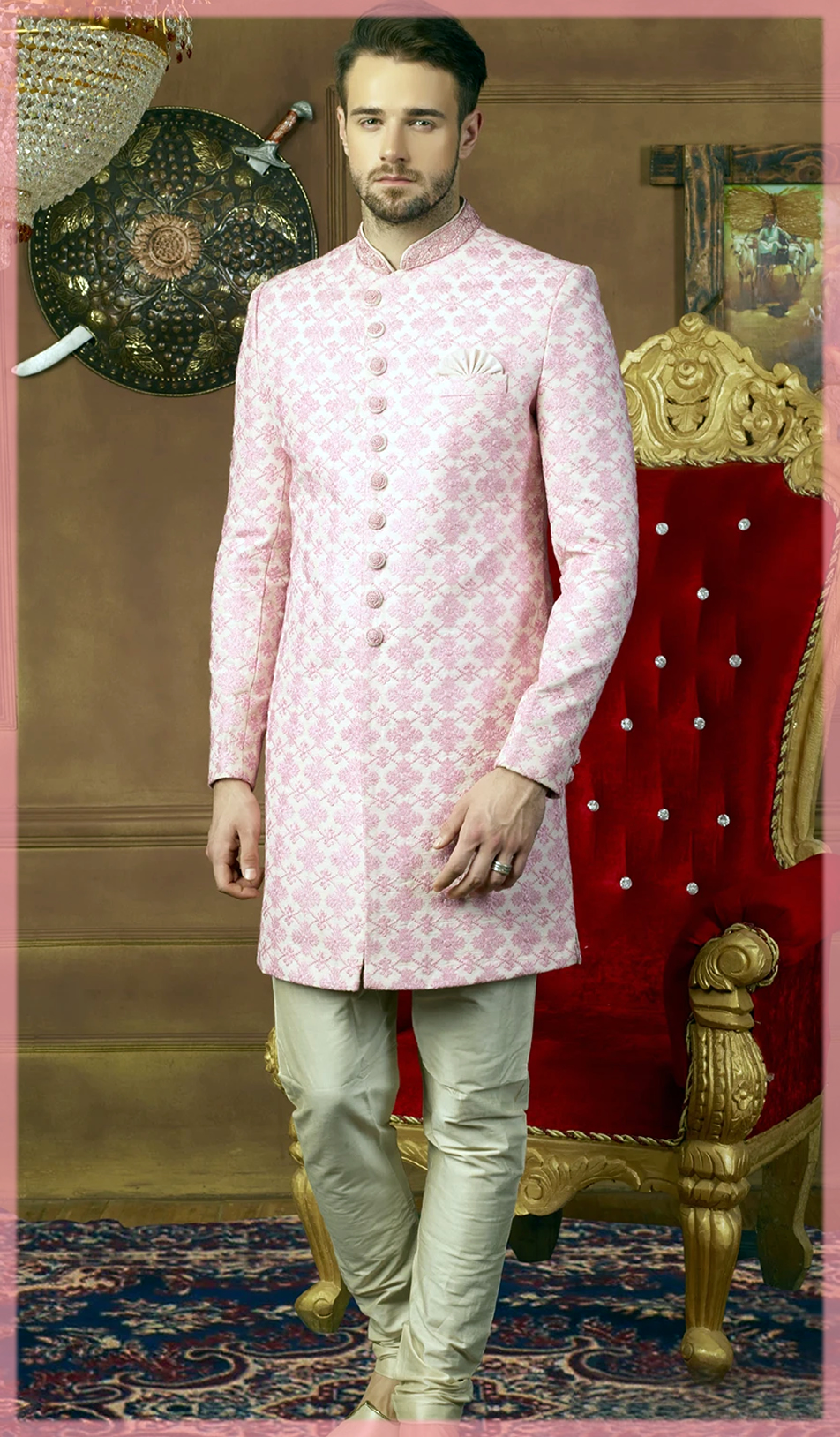 pretty pink groom nikkah dresses