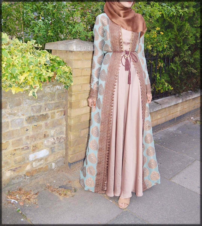 pretty pink open abaya
