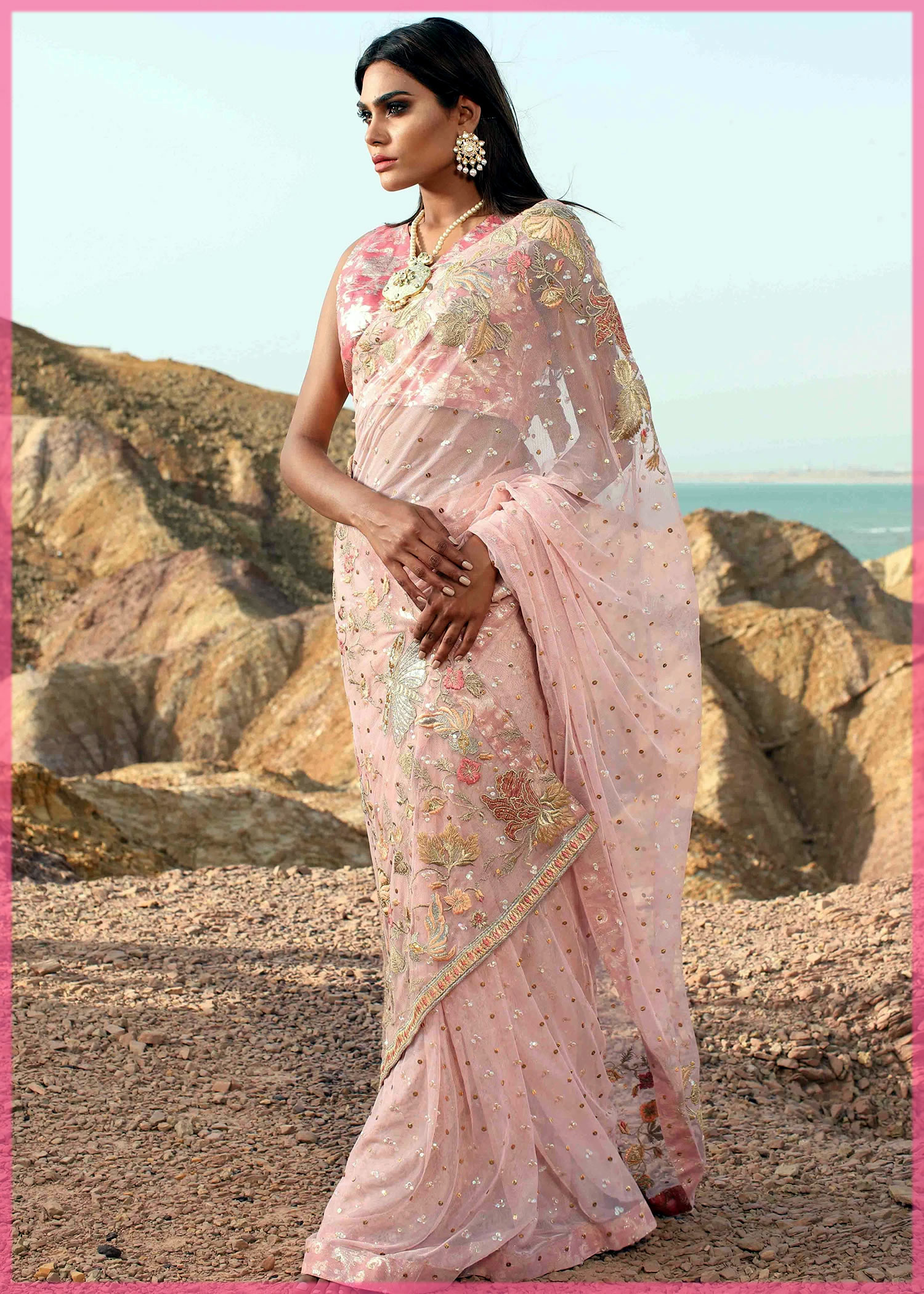 pretty pink youngest saree collection