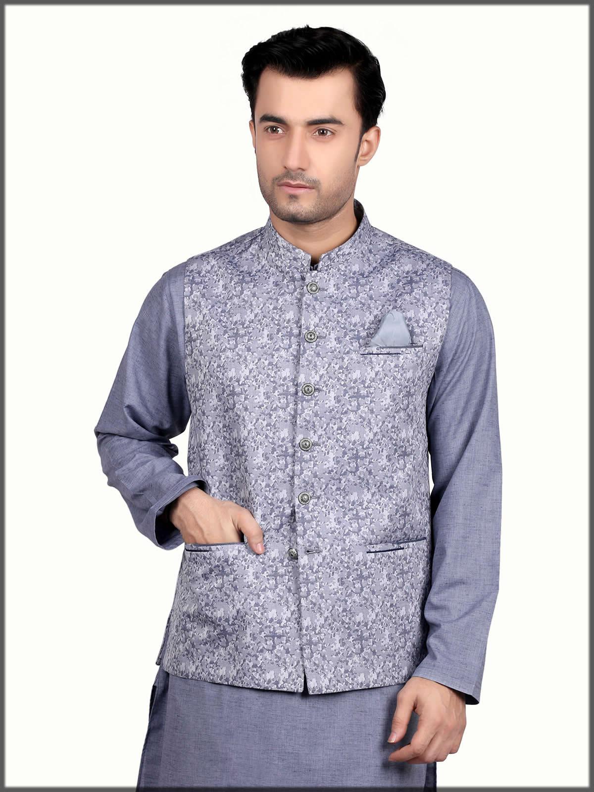 printed waistcoat for men