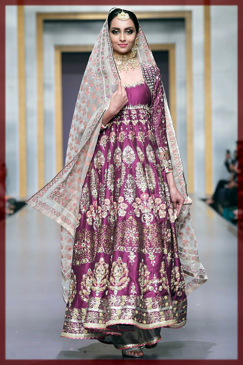 purple Deepak Perwani Bridal Collection