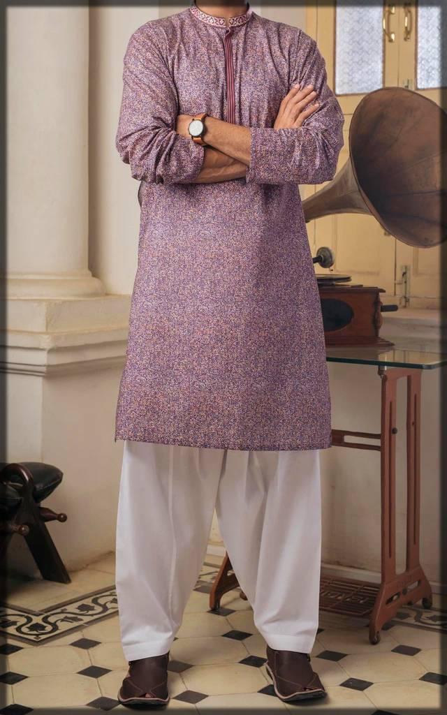 purple colored digital straight shirt