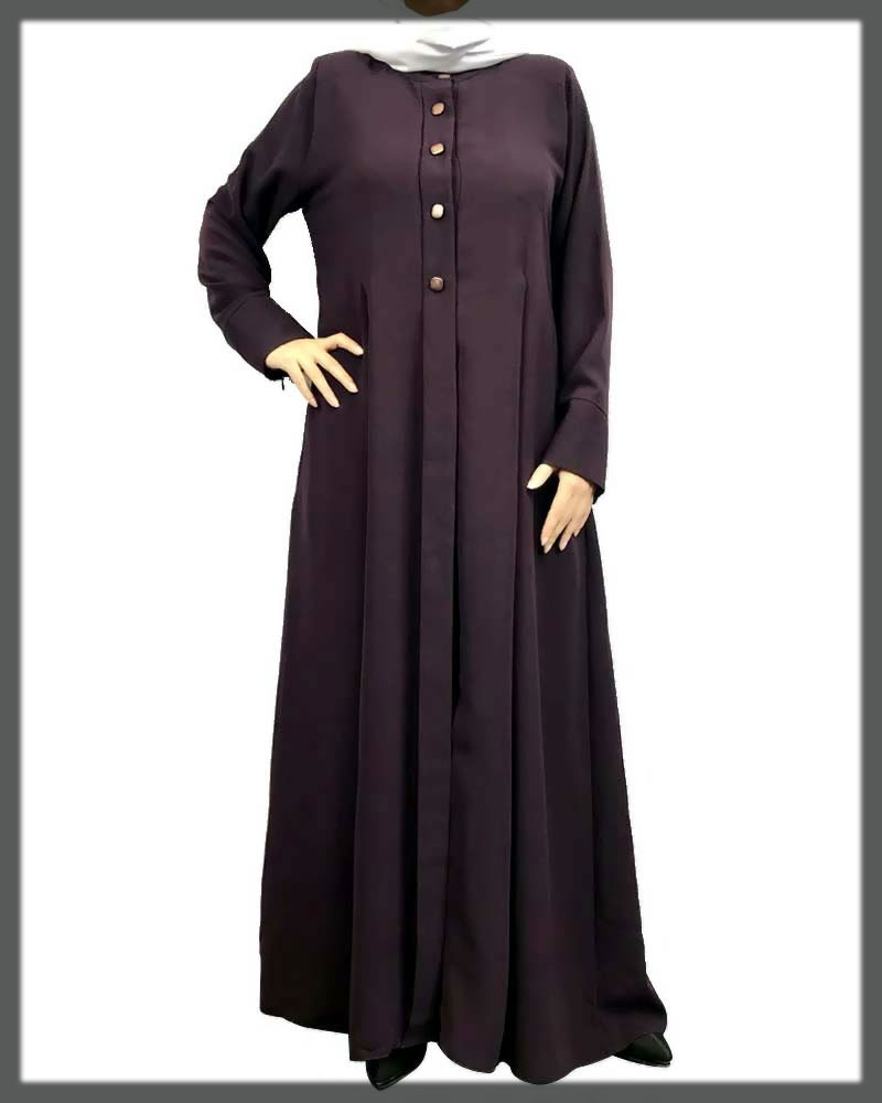 purple simple abaya collection