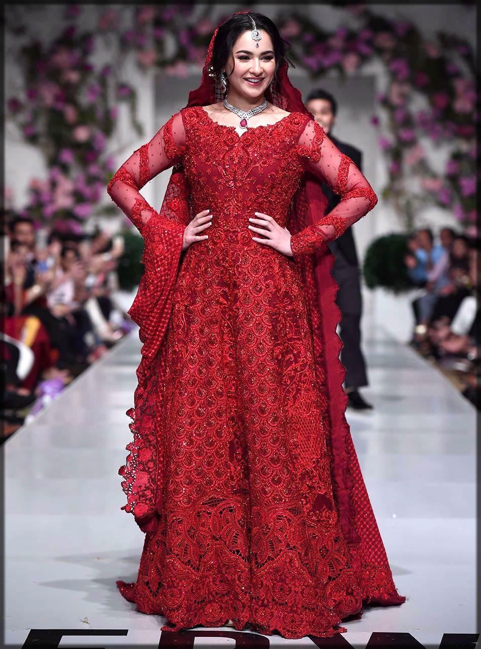 red maxi by zainab chottani
