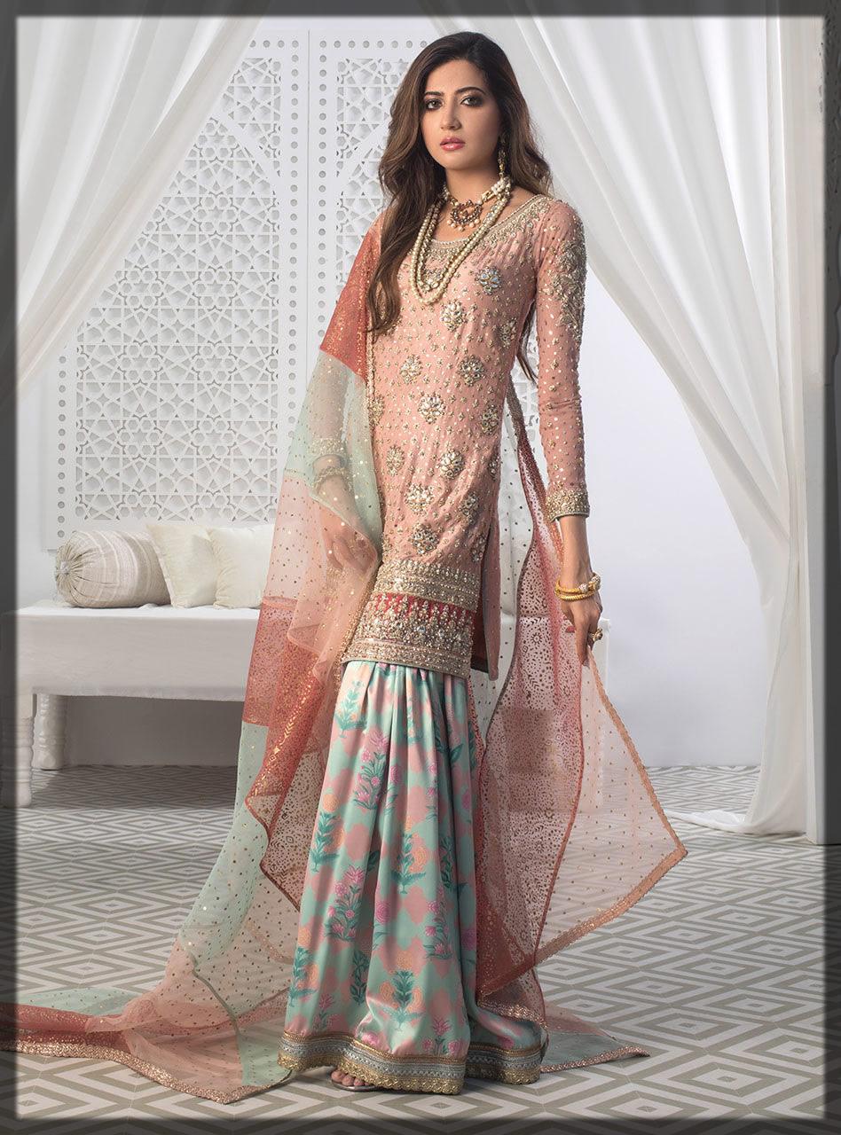 rose pink gharara dress