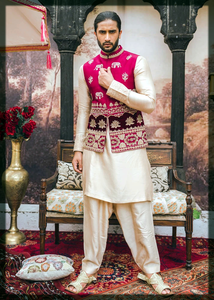 shalwar kameez with waistcoat