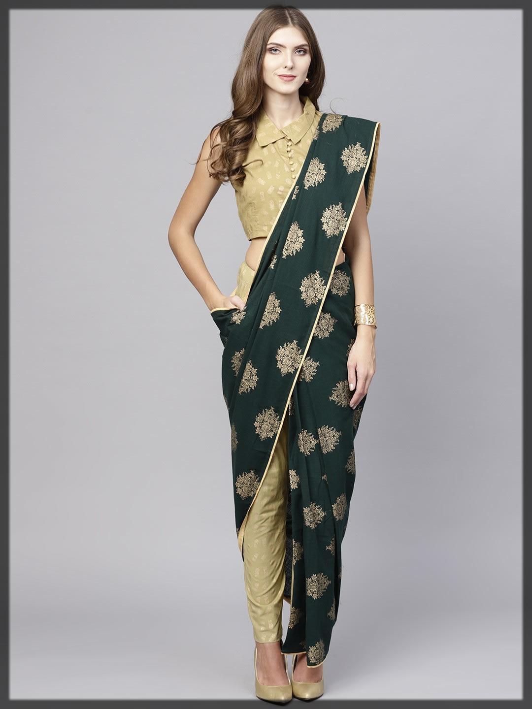 silk jamawar printed saree