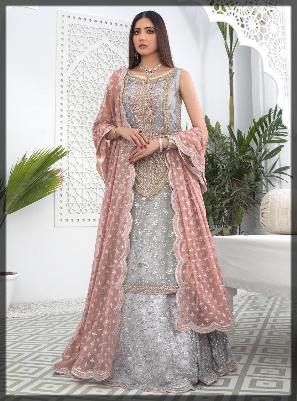 silver organza sharara dress