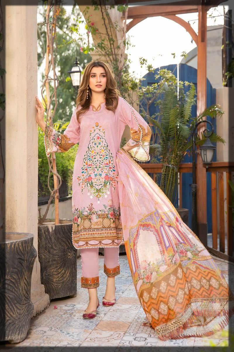 fancy lawn suit by Sitara
