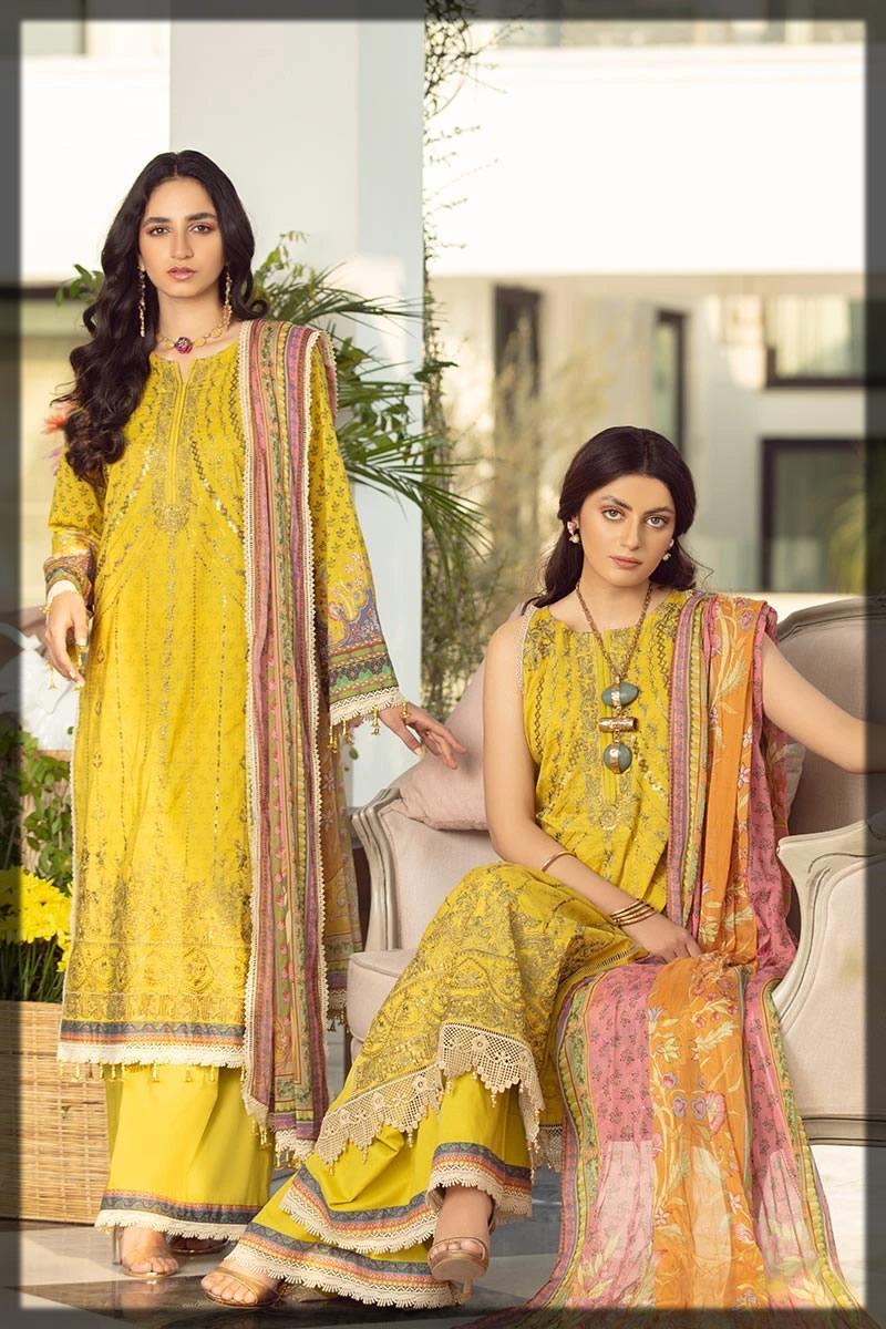 striking yellow summer lawn dress