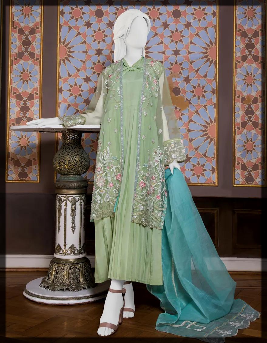 stunning organza summer suit for Eid
