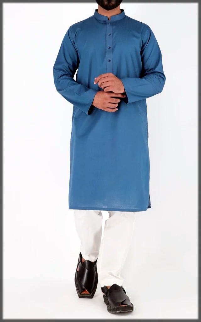 stylish blue eid dress