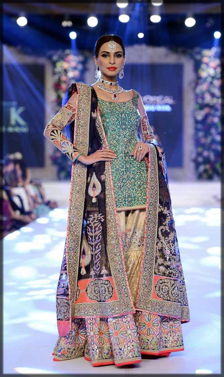 stylish bridal gharara design