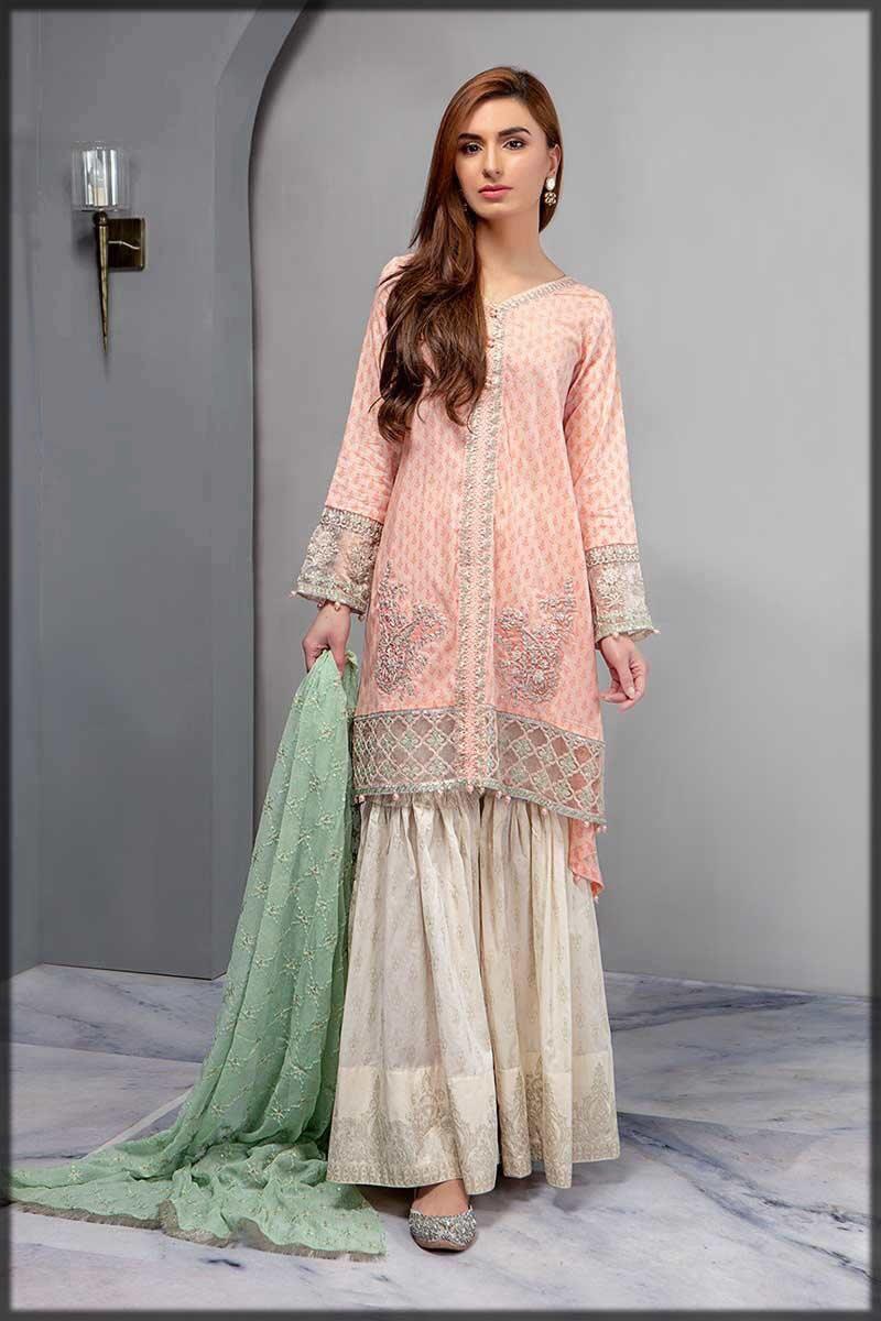 stylish pink gharara