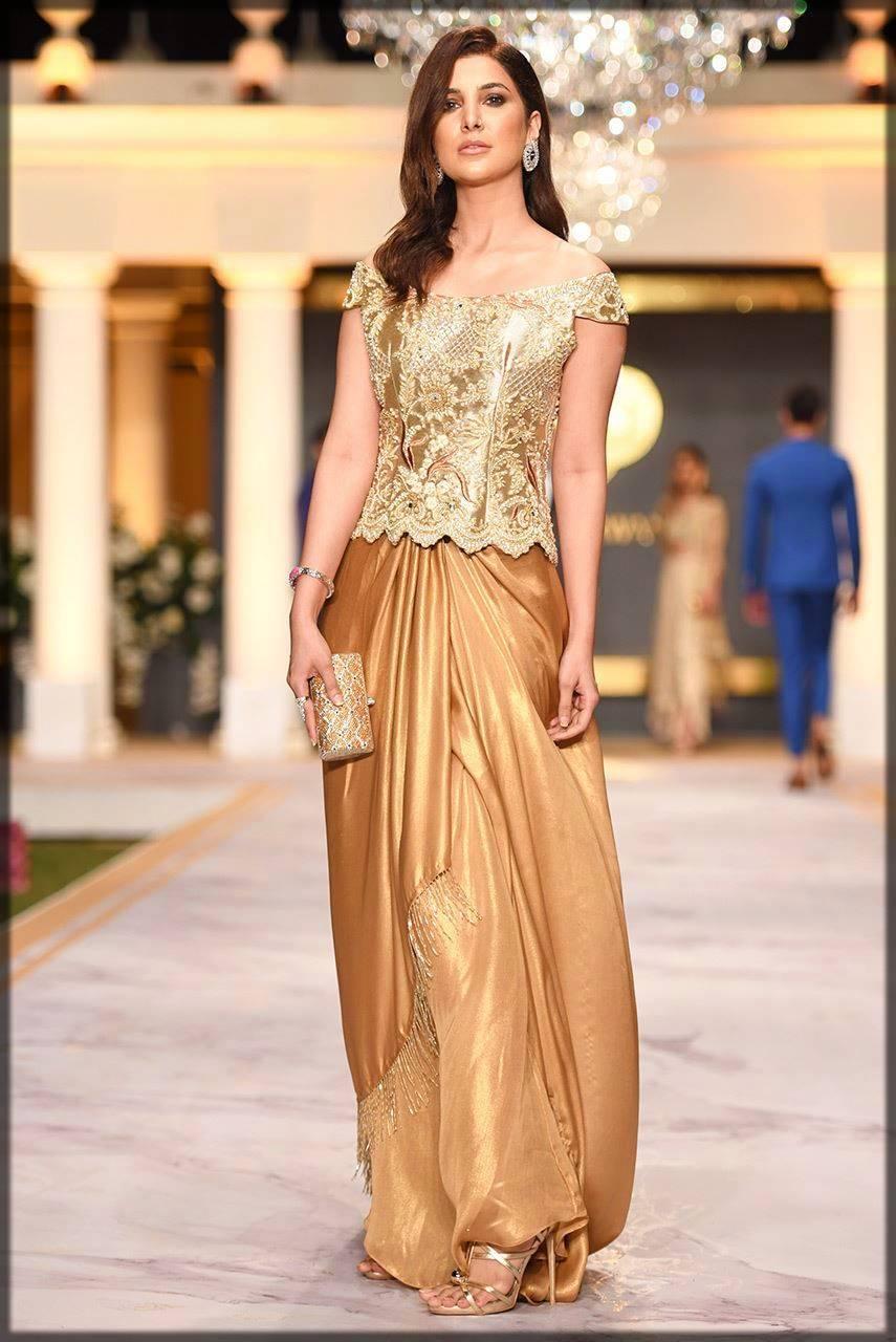 sungold shimmer silk skirt