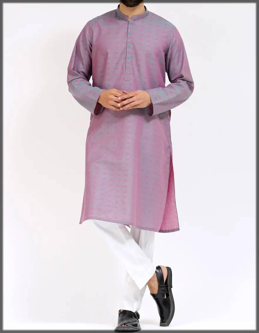 teal-pink menswear attire
