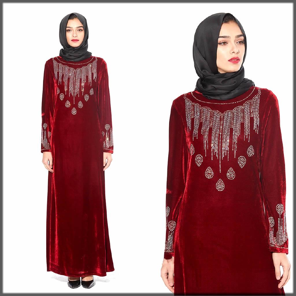 velvet abaya for wedding day