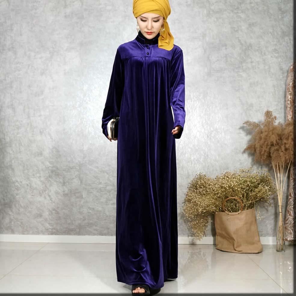 velvet abaya with hijab style