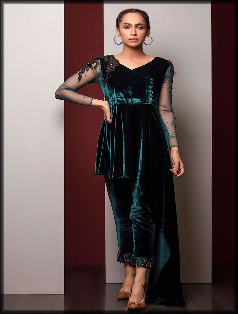 velvet formal wear
