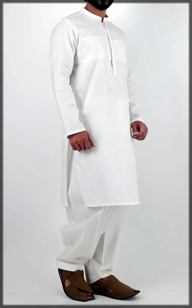 white shalwar kameez for eid