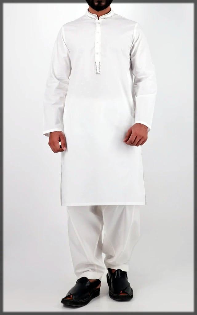 white stylish eid dress