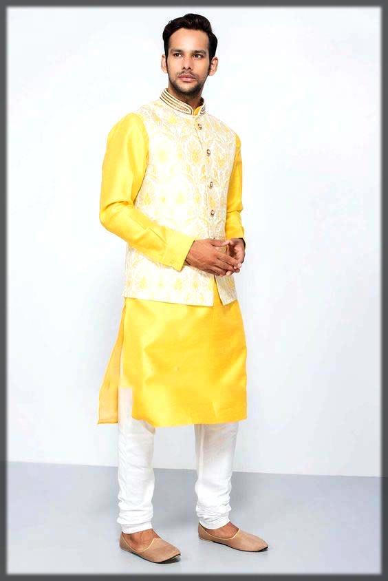 yellow dress for mehndi