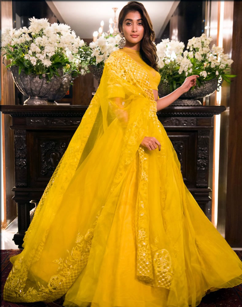 yellow mehndi gaghra choli