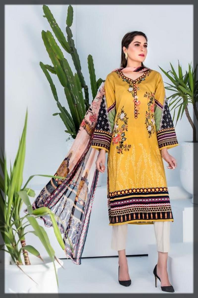 yellow printed jacquard dress
