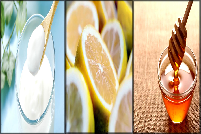 yogurt,lemon and honey mask for dandruff