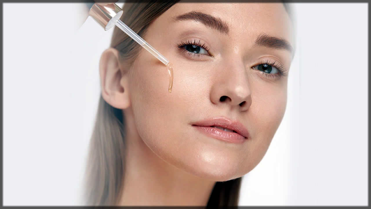 Applying serum on skin