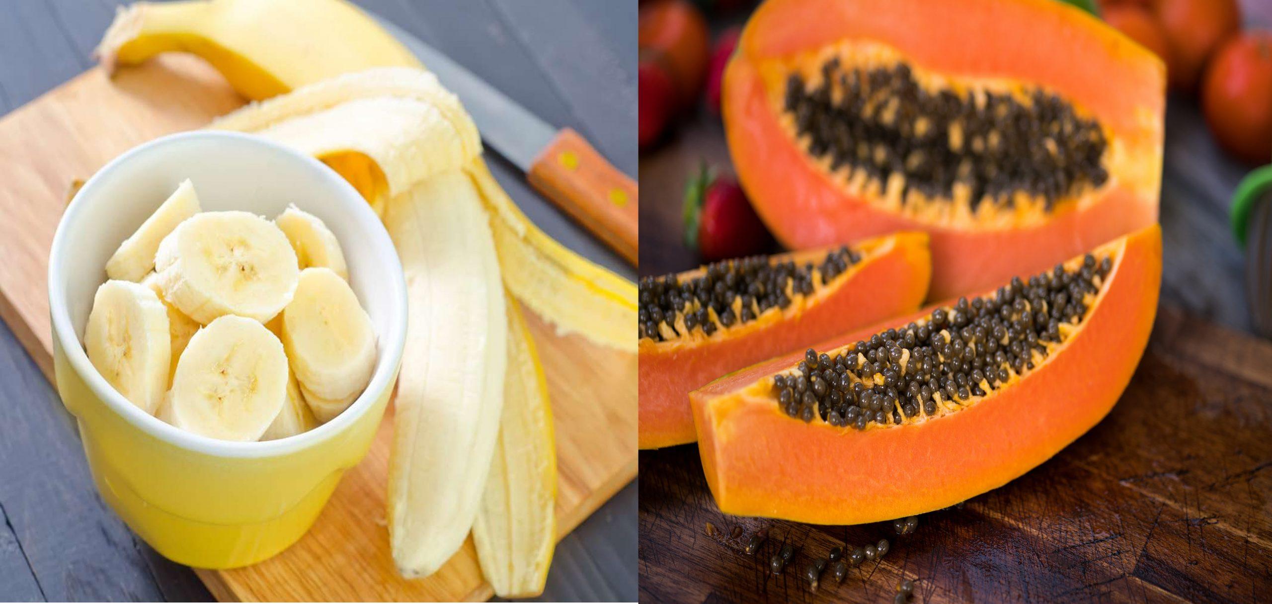 Banana And Papaya Mask
