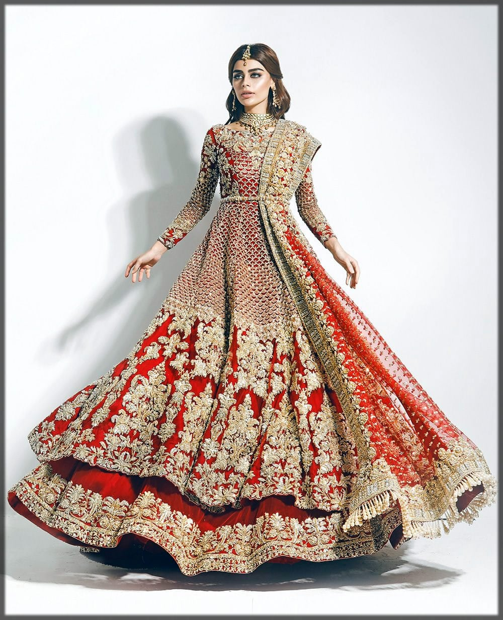 Barat day Pakistani wedding frocks