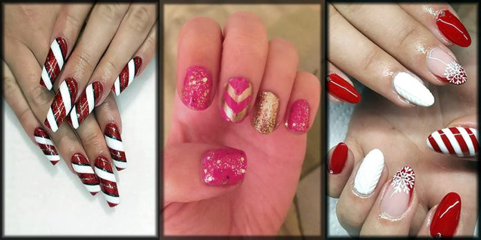 Beautiful Christmas nail art designs and ideas
