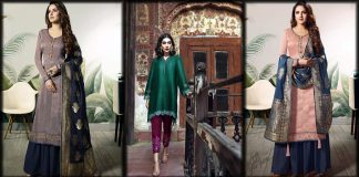 Pakistani Silk Dresses 2021 for Women - Casual and Party Wear Collection
